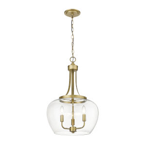 Joliet Olde Brass Three-Light Pendant