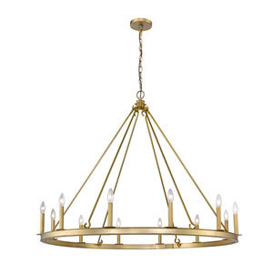 Barclay Olde Brass 48-Inch 12-Light Chandelier
