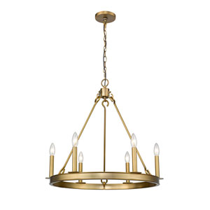 Barclay Olde Brass Six-Light Chandelier