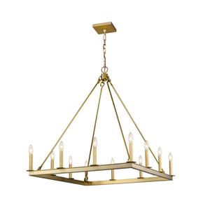 Barclay Olde Brass 34-Inch 12-Light Chandelier