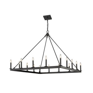 Barclay Matte Black 16-Light Chandelier