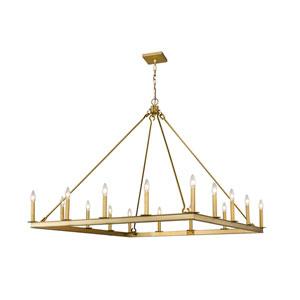 Barclay Olde Brass 16-Light Chandelier