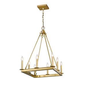 Barclay Olde Brass 20-Inch Eight-Light Chandelier