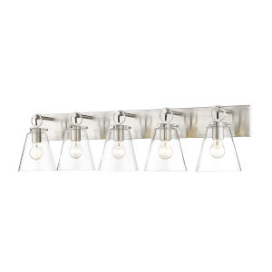 Harper Brushed Nickel Five-Light Bath Vanity