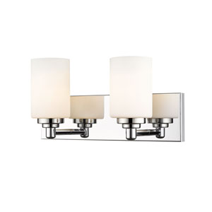 Soledad Chrome Two-Light Bath Vanity