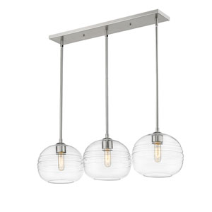 Harmony Brushed Nickel Three-Light Island Chandelier