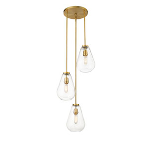 Ayra Olde Brass Three-Light Pendant