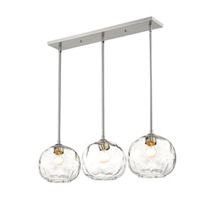 Chloe Brushed Nickel Three-Light Island Chandelier
