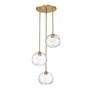 Chloe Olde Brass Three-Light Pendant