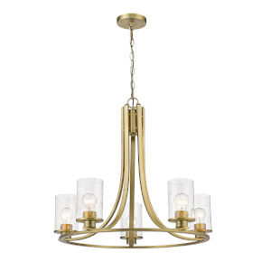 Beckett Olde Brass Five-Light Chandelier