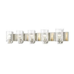 Beckett Brushed Nickel Five-Light Bath Vanity