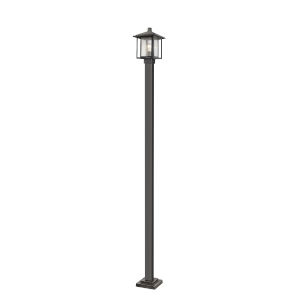 Aspen Oil Rubbed Bronze 109-Inch One-Light Outdoor Post Mount