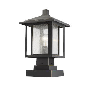 Aspen Oil Rubbed Bronze One-Light Outdoor Pier Mount