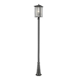 Aspen Black Three-Light Outdoor Post Mount