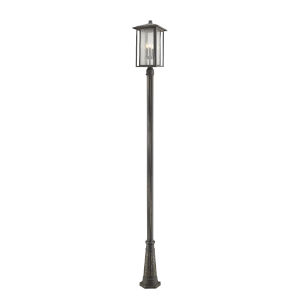 Aspen Oil Rubbed Bronze 118-Inch Three-Light Outdoor Post Mount