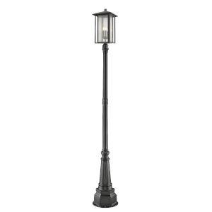 Aspen Black 107-Inch Three-Light Outdoor Post Mount