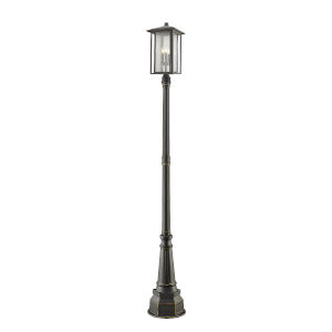 Aspen Oil Rubbed Bronze Three-Light Outdoor Post Mount