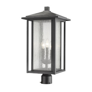 Aspen Black 22-Inch Three-Light Outdoor Post Mount