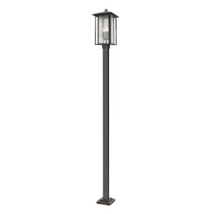 Aspen Oil Rubbed Bronze 117-Inch Three-Light Outdoor Post Mount