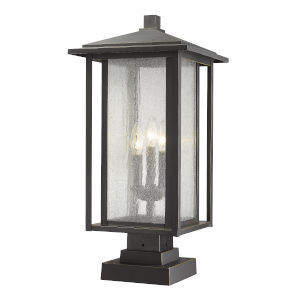 Aspen Oil Rubbed Bronze Three-Light Outdoor Pier Mount