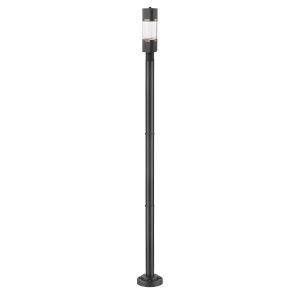 Lestat Black One-Light LED Outdoor Post Mount