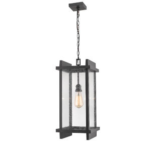 Fallow Black One-Light Outdoor Pendant