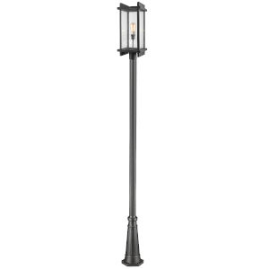 Fallow Black One-Light Outdoor Post Mount