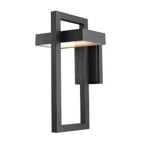 Luttrel Black LED Outdoor Wall Sconce