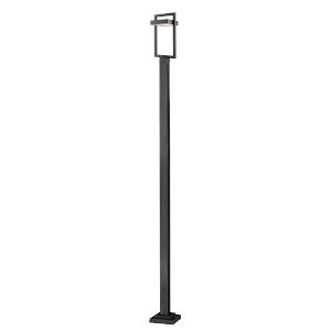 Luttrel Black LED Outdoor Post Mount with Frosted Glass