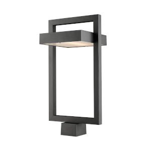 Luttrel Black LED Outdoor Post Mount