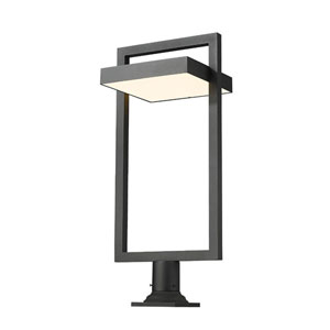 Luttrel Black Outdoor LED Pier Mount