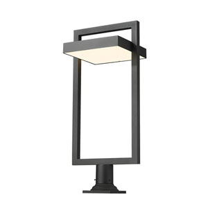 Luttrel Black One-Light LED Outdoor Pier Mount