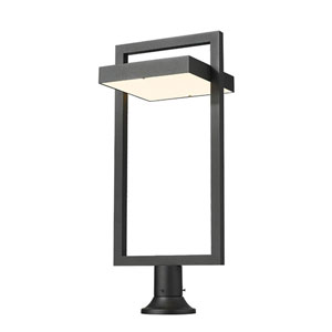 Luttrel Black Outdoor LED Pier Mount with Round Base