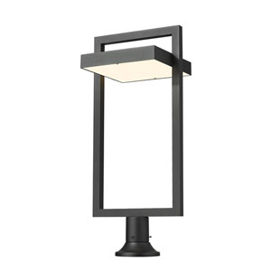 Luttrel Black One-Light LED Outdoor Pier Mount