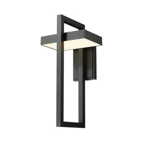 Luttrel Black One-Light LED Outdoor Wall Sconce