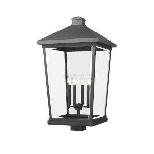 Beacon Black 30-Inch Three-Light Outdoor Post Mount