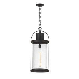 Roundhouse Black 28-Inch One-Light Outdoor Wall Sconce