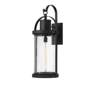 Roundhouse Black 32-Inch One-Light Outdoor Wall Sconce