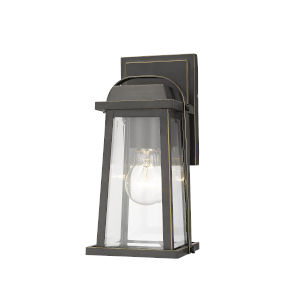 Millworks Oil Rubbed Bronze One-Light Outdoor Wall Sconce With Transparent Beveled Glass