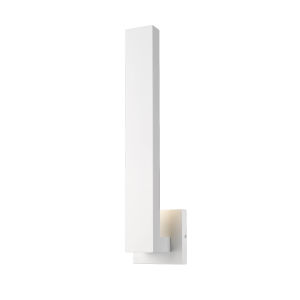 Edge White LED Two-Light Outdoor Wall Sconce with Sand Blast Glass