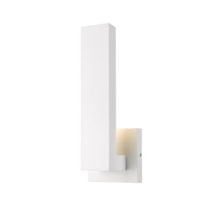 Edge White LED One-Light Outdoor Wall Sconce with Sand Blast Glass