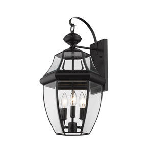 Westover Black Three-Light Outdoor Wall Sconce