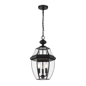 Westover Black Three-Light Outdoor Pendant