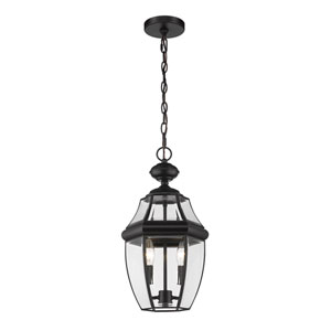 Westover Black 19-Inch Two-Light Outdoor Wall Sconce
