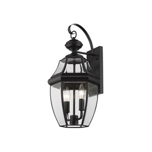 Westover Black 20-Inch Two-Light Outdoor Wall Sconce