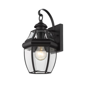 Westover Black 8-Inch One-Light Outdoor Wall Sconce