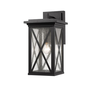 Brookside Black 10-Inch One-Light Outdoor Wall Sconce