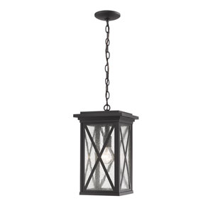 Brookside Black One-Light Outdoor Pendant