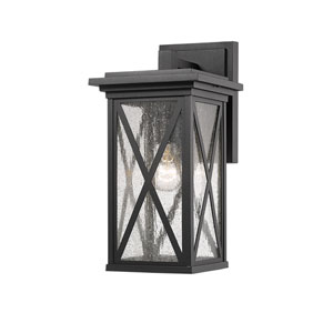 Brookside Black 7-Inch One-Light Outdoor Wall Sconce