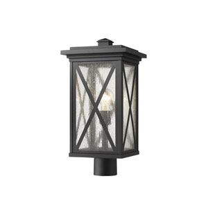 Brookside Black 20-Inch One-Light Outdoor Post Mount